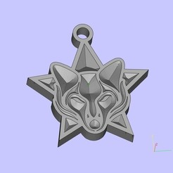 Descargar diseños 3D gratis zorro medallón, shuranikishin