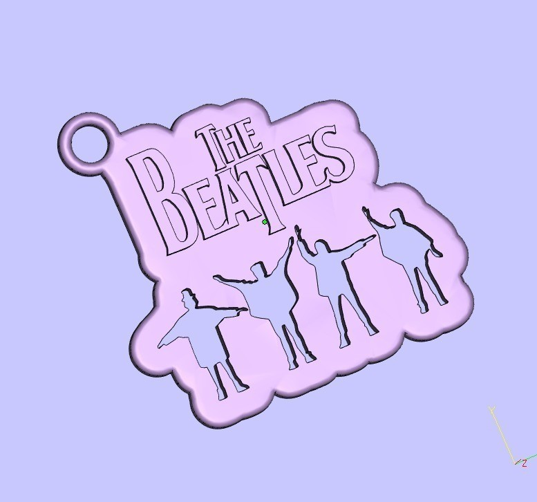 87b22ae762e79dcf6f0de2d4f54fb362_display_large.jpg Télécharger fichier STL gratuit le porte-clés des Beatles • Modèle imprimable en 3D, shuranikishin