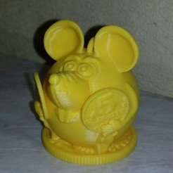 Descargar Modelos 3D para imprimir gratis Ratón con monedas, shuranikishin