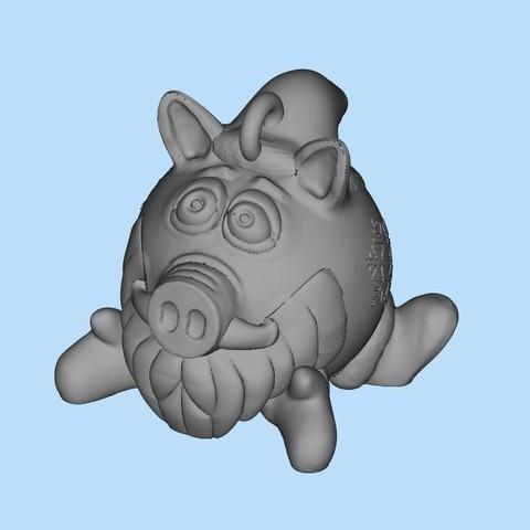 69eda340a9733adb351b9d4946bb4d14_display_large.jpg Télécharger fichier STL gratuit Cochon de père Noël • Objet pour impression 3D, shuranikishin