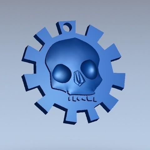 Télécharger fichier 3D gratuit porte-clés crâne, shuranikishin