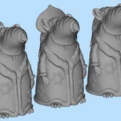 Download free 3D model Rat Snow Maiden, shuranikishin