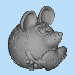 2020-02-12_18-11-06.jpg Download free STL file mouse for valentines day • 3D print object, shuranikishin