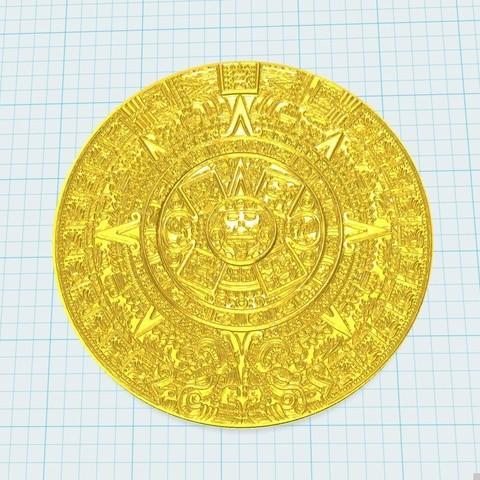 Télécharger STL gratuit calendrier aztèque, shuranikishin