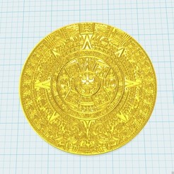Download free 3D printer designs aztec calendar, shuranikishin