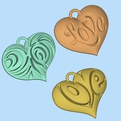 Download free STL file hearts for valentines day, shuranikishin