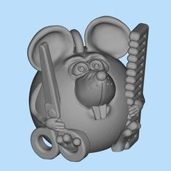 2019-12-24_00-23-55.jpg Download free STL file Mouse hairdresser • 3D printable template, shuranikishin