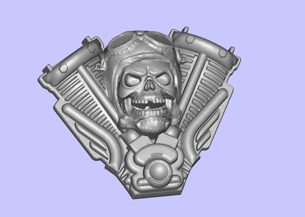 dc9a857d0463c52209b1470649295f42_display_large.jpg Télécharger fichier STL gratuit Harley Skull • Modèle pour impression 3D, shuranikishin
