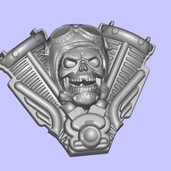Download free 3D print files Harley Skull, shuranikishin