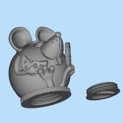 Descargar Modelos 3D para imprimir gratis hucha para ratón, shuranikishin