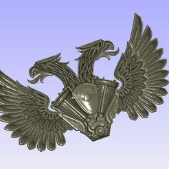 Download free STL file Harley double eagle logo, shuranikishin