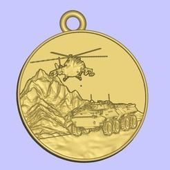 Descargar Modelos 3D para imprimir gratis Медаль воина воина интернационалиста, shuranikishin