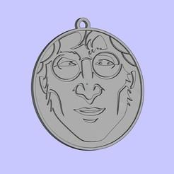 Descargar Modelos 3D para imprimir gratis Llavero John Lennon, shuranikishin