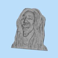 Download free STL Bob Marley, shuranikishin