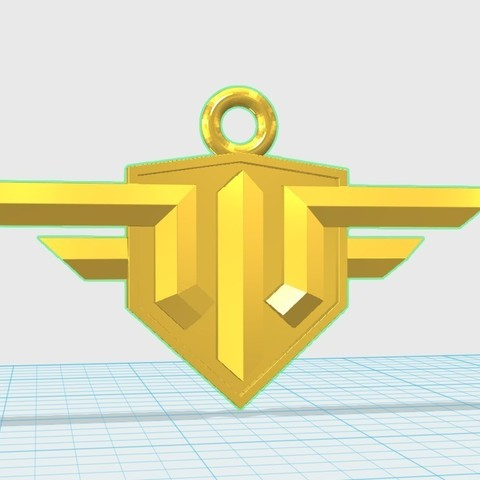 Télécharger fichier impression 3D gratuit Porte-clés avec logo World of Warplanes, shuranikishin