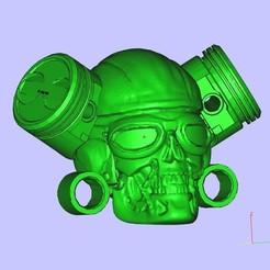 Download free STL MotoSkull Terminator, shuranikishin