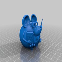 Descargar Modelos 3D para imprimir gratis profesor de ratón, shuranikishin