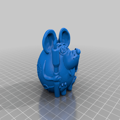 Descargar diseños 3D gratis ratón con soldador, shuranikishin
