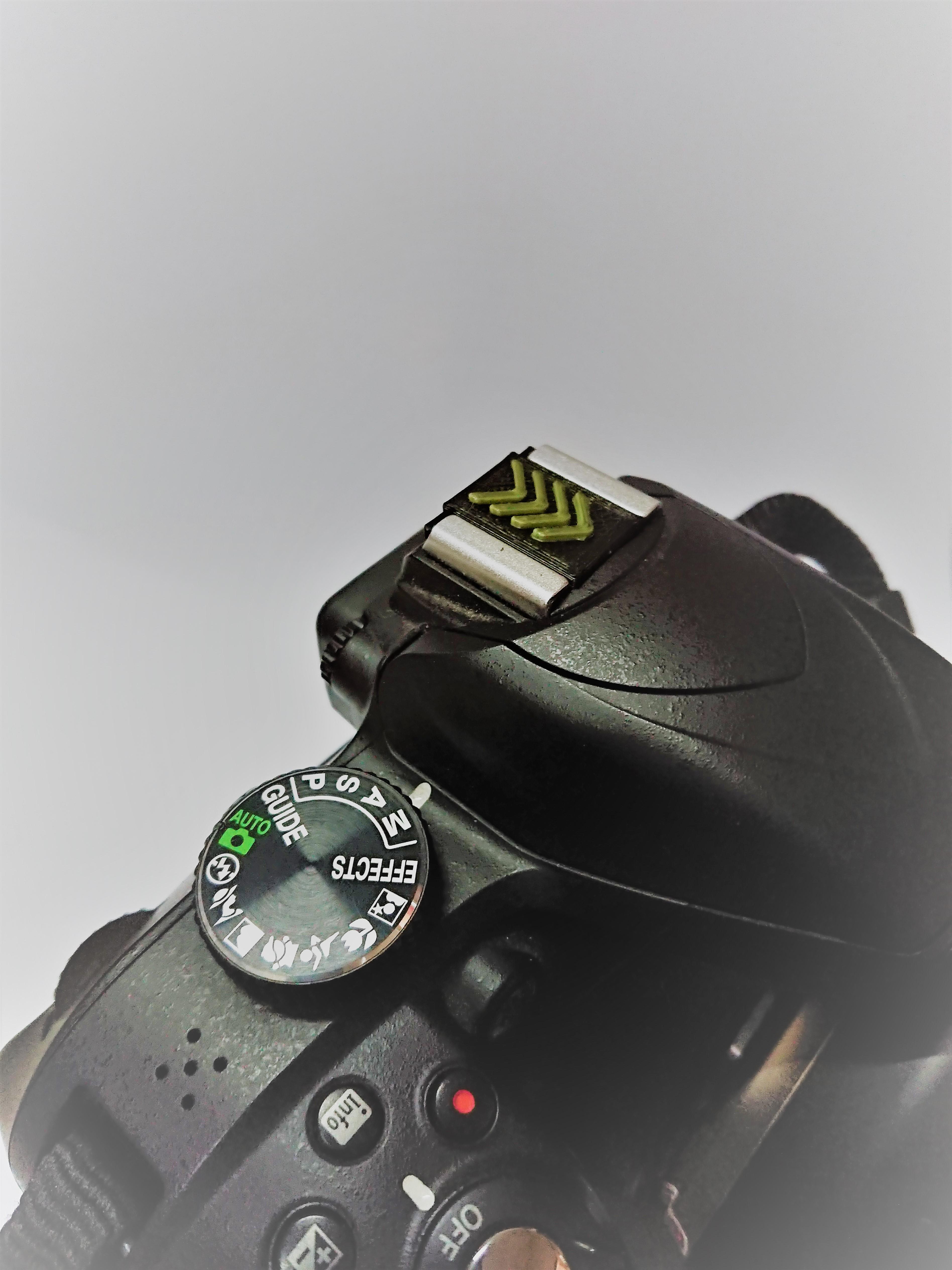 DSC_2638.JPG Download free STL file Camera Hot Shoe Cover • 3D print template, chienline