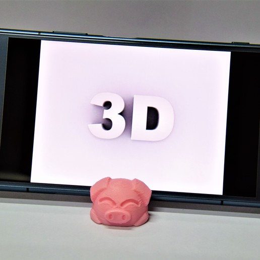 DSC_1834.JPG Download free STL file Piggy Phone Stand Keychain • 3D printing template, chienline