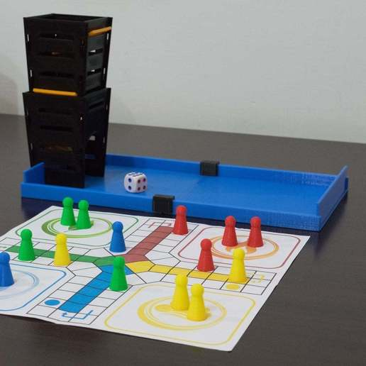 Download free 3D printer files Ludo Set with Box and Dice Tower, chienline