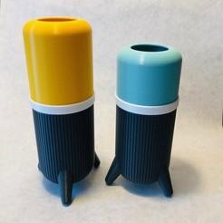 Descargar STL gratis jarrón de diseño multicolor y modular, steph25