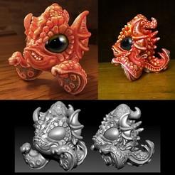 Télécharger fichier STL gratuit Bébé Lagon Noir Créature • Design à imprimer en 3D, bennettklein