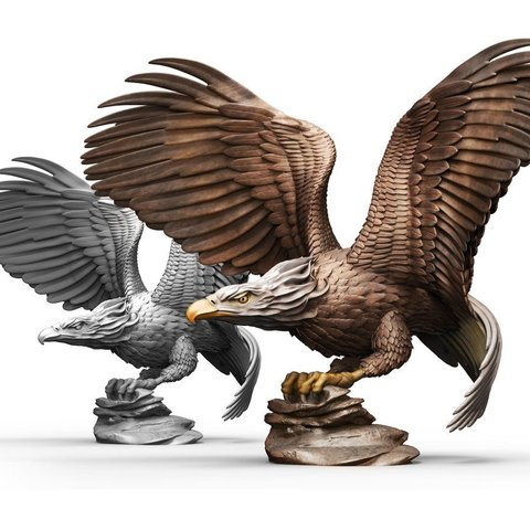Descargar archivo 3D gratis Bald Eagle (no para impresión de soporte), bennettklein