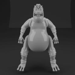 Criatura_1.png Télécharger fichier STL Modèle ennemi Mazinger Z • Objet à imprimer en 3D, PrinCo_3D