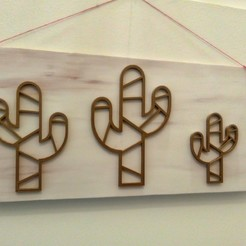 Download 3D printer templates Cactus wall, philovent