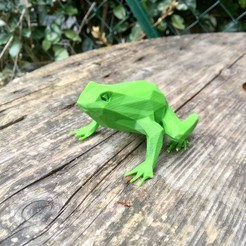 3D print files Low poly toad, philovent
