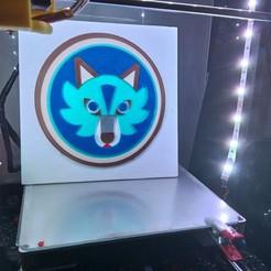 IMG_20190820_214903.jpg Download STL file Wolf mosaic painting • 3D printer design, philovent