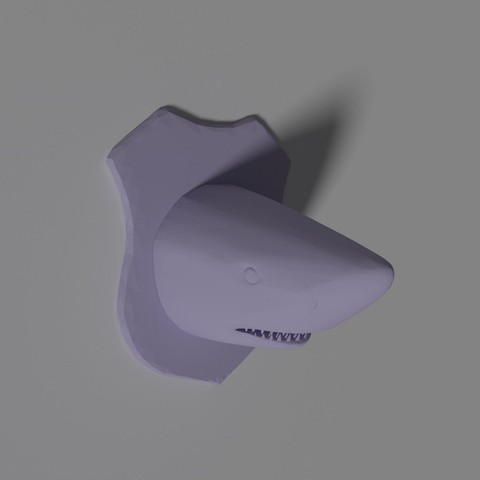 Fichier impression 3D shark wall trophy , philovent