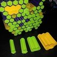 Download free 3D printer designs Tiny Hive - storage system for small items, pyromaniak