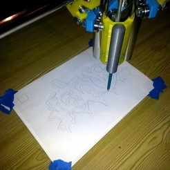 Free 3D printer model Spring-loaded pencil holder for MPCNC, pyromaniak