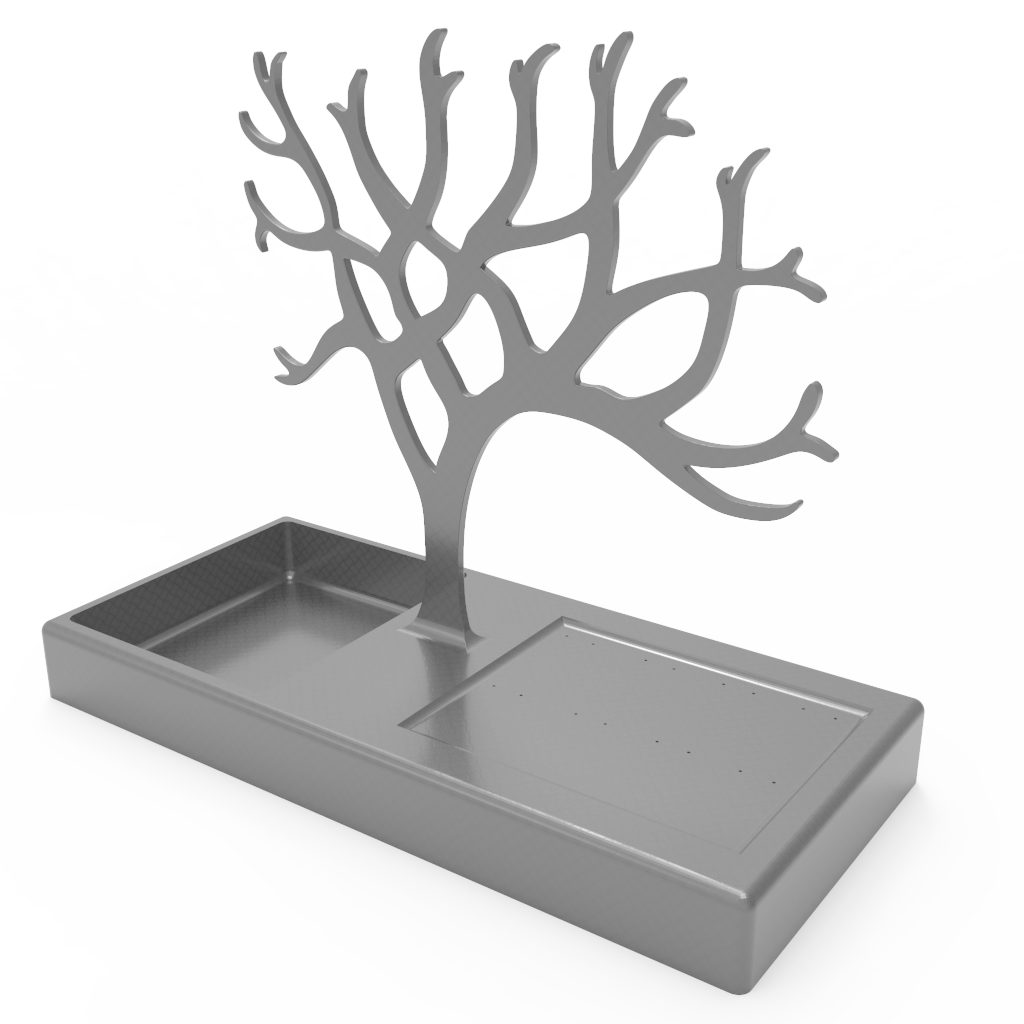 untitled.315.png Download free STL file Tree Necklace Hanger • 3D printer template, CastleDesignChile