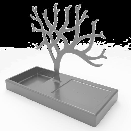 Download free STL files Tree Necklace Hanger, CastleDesignChile