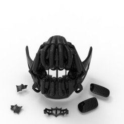 Download free 3D printing designs MASK BANE BATMAN, CastleDesignChile