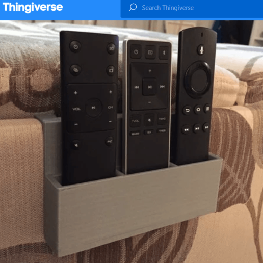 Screenshot_2020-04-18 Remote Control Holder (Customize for your Needs ) by the3dprintzone.png Download free STL file remote control tv stand for bed • Object to 3D print, CastleDesignChile