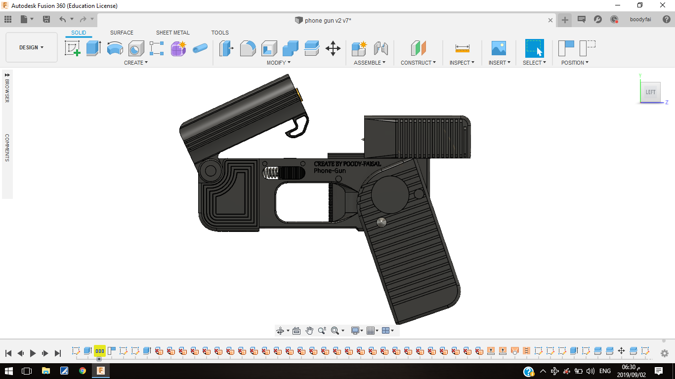 Screenshot (470).png Download free STL file Phone Gun (Self-defense) Flodable 9mm single shot • 3D printing model, poodyfaisal