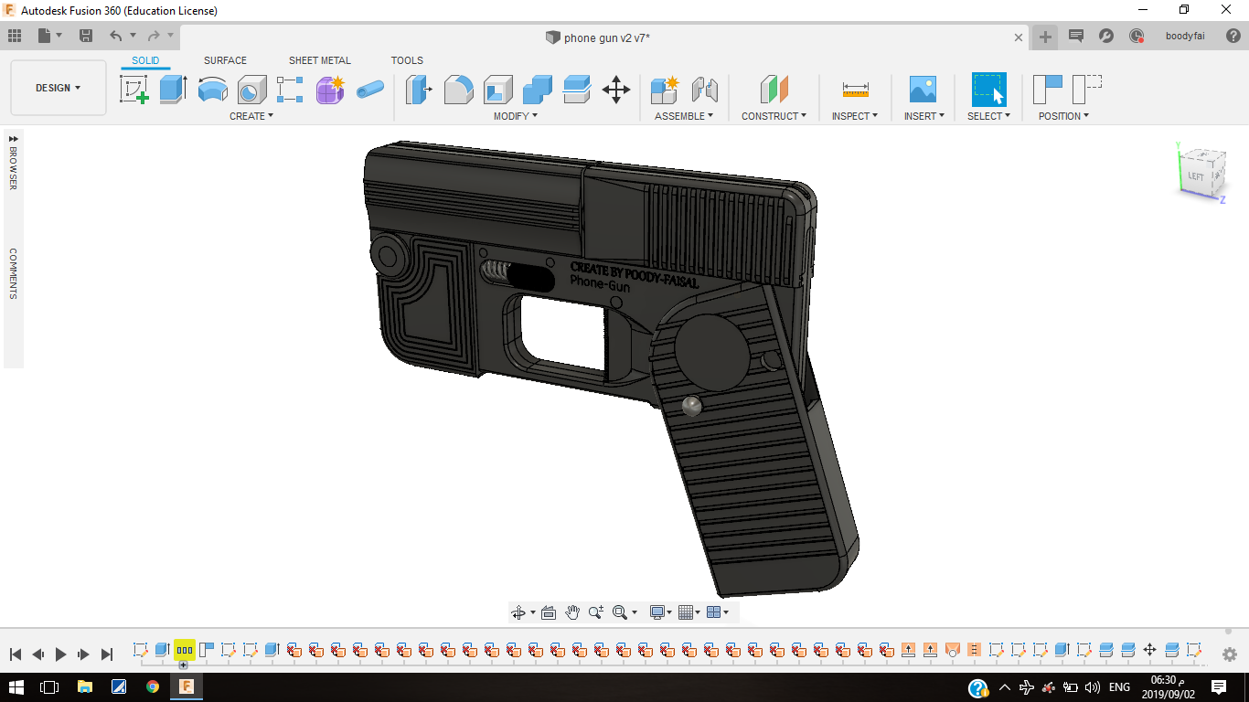 Screenshot (467).png Download free STL file Phone Gun (Self-defense) Flodable 9mm single shot • 3D printing model, poodyfaisal
