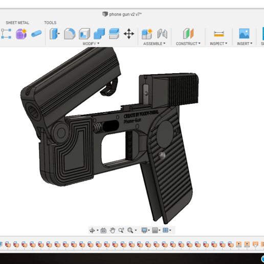 Screenshot (471).png Download free STL file Phone Gun (Self-defense) Flodable 9mm single shot • 3D printing model, poodyfaisal