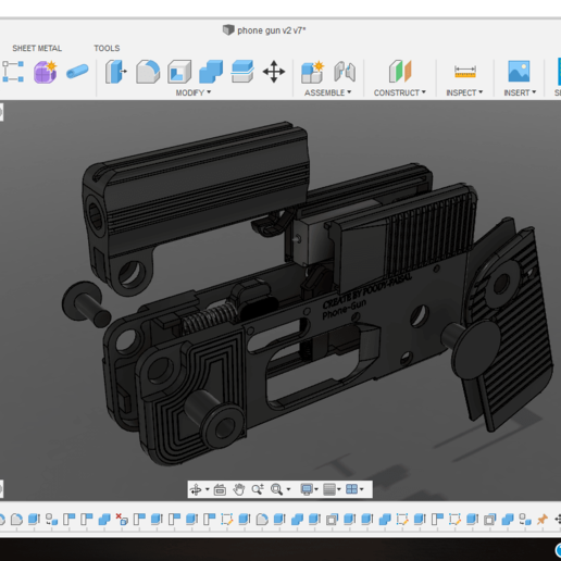 Screenshot (474).png Download free STL file Phone Gun (Self-defense) Flodable 9mm single shot • 3D printing model, poodyfaisal