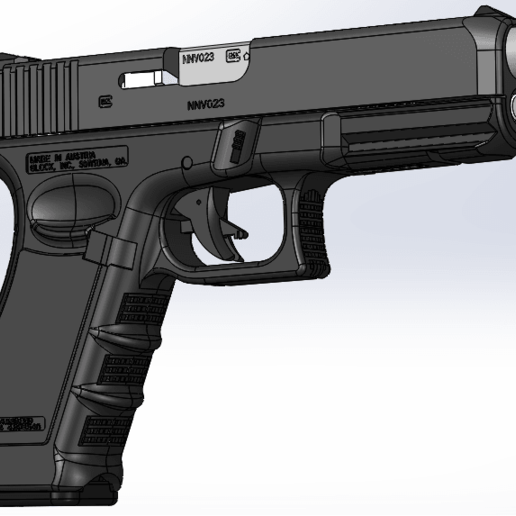 Download free 3D printing files glock-17 full gun , poodyfaisal