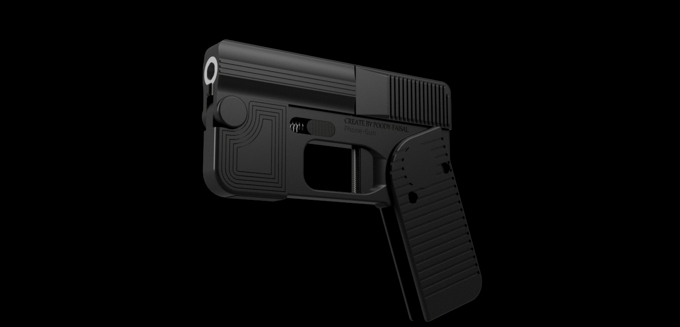 phone gun v2 v2.png Download free STL file Phone Gun (Self-defense) Flodable 9mm single shot • 3D printing model, poodyfaisal