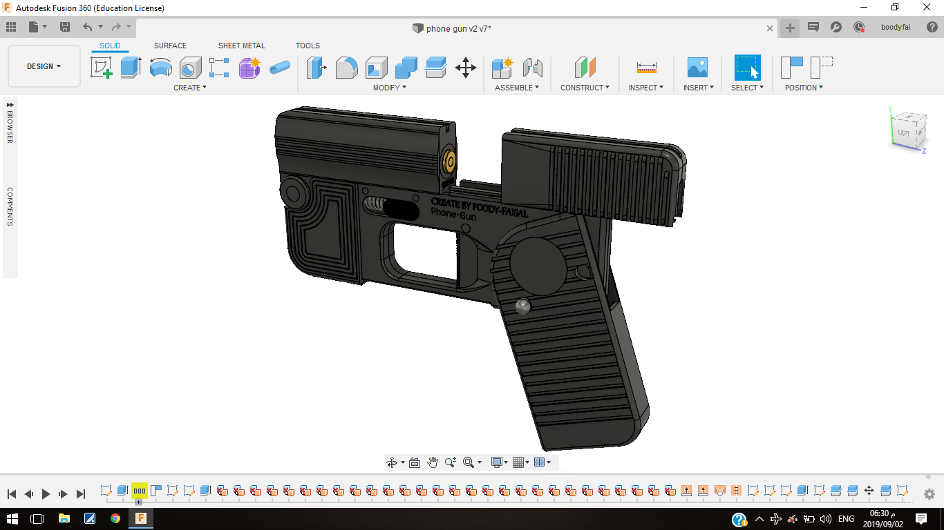 Screenshot (466).png Download free STL file Phone Gun (Self-defense) Flodable 9mm single shot • 3D printing model, poodyfaisal