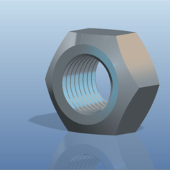 Download 3D printing designs Nut with thread , Marko03