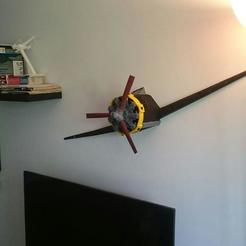 Télécharger objet 3D old airplane/radial engine wall decoration, westloki