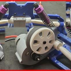 프레젠테이션1.jpg Télécharger fichier STL gratuit Buggy RC à l'échelle 1/10 (groupe motopropulseur) • Design imprimable en 3D, MAKEIT