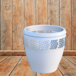 Sous pot Orchidée v3.png Download free STL file Under pot Orchid • Template to 3D print, jttassin